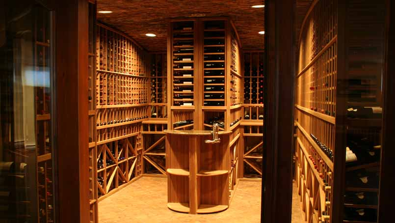 Magnum cellars - cave à vin custom wine vault - 2200 bouteilles bottles