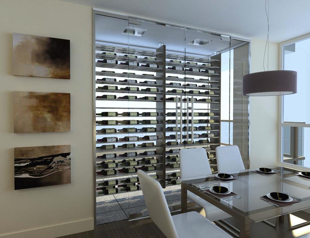 Magnum cellars - cave à vin custom wine vault - 324 bouteilles bottles