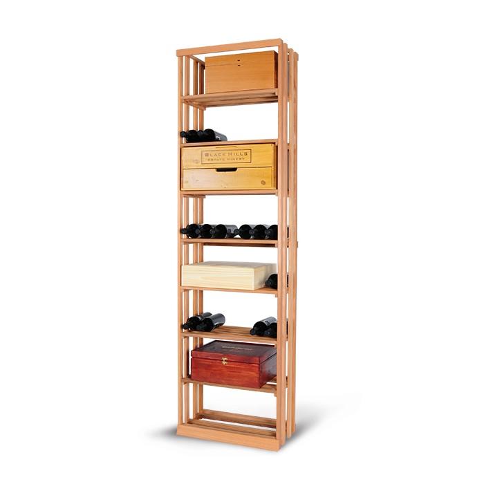 Magnum support à bouteille wine racking - vrac caisses de bois stacking wooden boxes