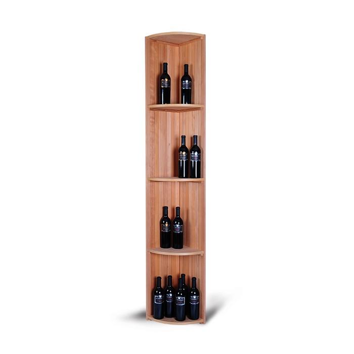 Magnum support à bouteille wine racking - empilage tablettes quart de rond - stacking tablets quarter round