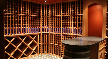 custom made wine cellar - cave à vin sur mesure